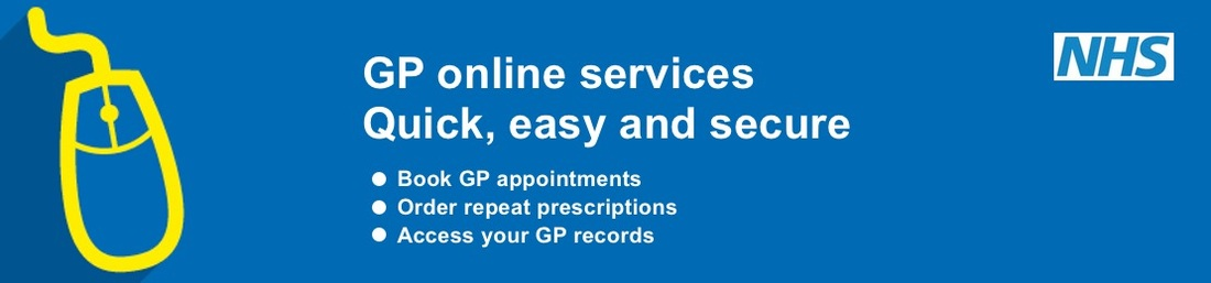 Banner: GP Online Services Quick, Easy, Secure