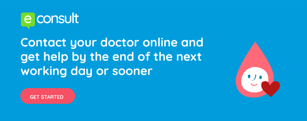 E-Consult: Contact your doctor online and get help by the end of the next working day or sooner - get started